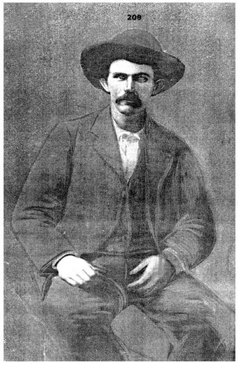 Jesse James 1871 tin type