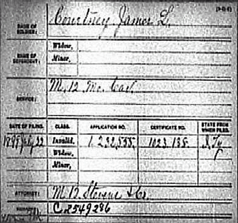 The real J.L. Courtney's Union Pension Index Record