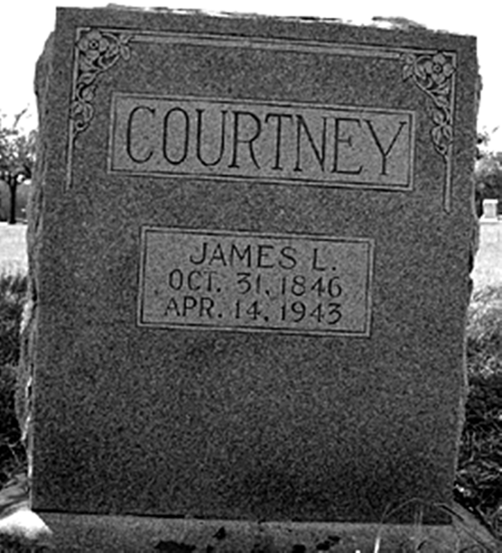 Headstone of Jesse James aka J.L. Courtney